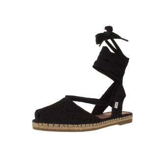 Toms Women's Bella Black Moroccan Crochet Casual Shoe