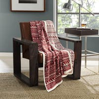 Eddie Bauer Alpine Knit Throw in Oyster or Red