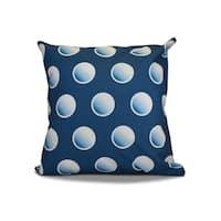 18 x 18-inch, Dip Dye Dots, Geometric Holiday Print Pillow