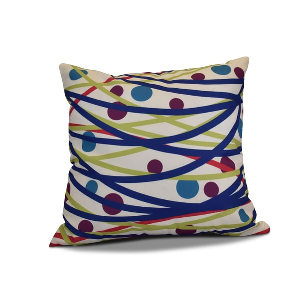18 x 18-inch, Doodle Decorations, Geometric Holiday Print Pillow