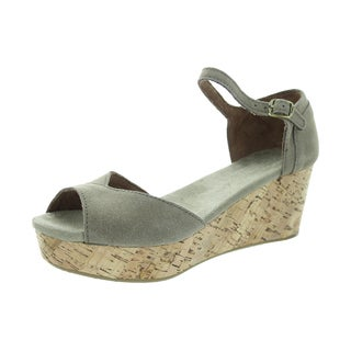 Toms Women's Platform Wedge Taupe Casual Shoe