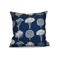 18 x 18-inch, Field of Trees, Floral Print Pillow