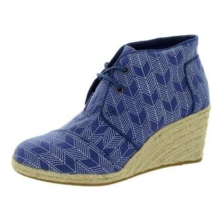 Toms Women's Desert Wedge Ink Shashiko Casual Shoe