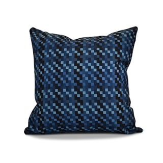 18 x 18-inch, Mad for Plaid, Geometric Print Outdoor Pillow