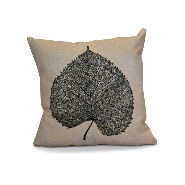 18 x 18-inch, Leaf Study, Floral Print Pillow