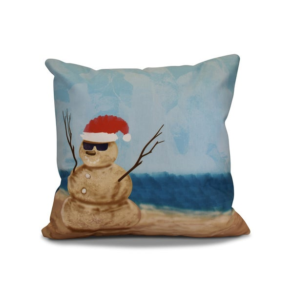 18 x 18-inch, Mr. Sandman, Holiday Geometric Print Pillow