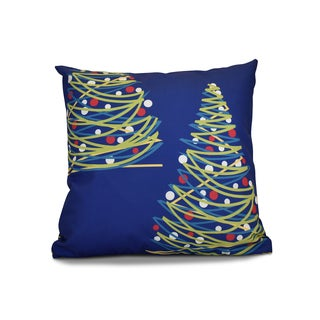 18 x 18-inch, O Tannenbaum, Geometric Holiday Print Pillow