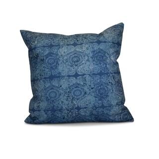 18 x 18-inch, Patina, Geometric Print Pillow