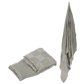 Acrylic Grey Throw