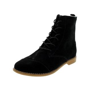 Toms Women's Black Suede Alpa Boot
