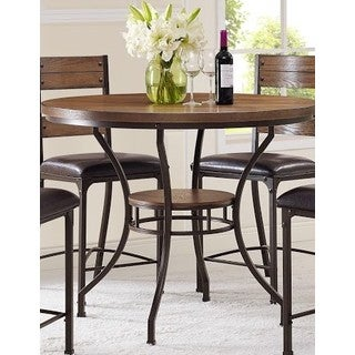 Stockton Oak Round Pub Height Table