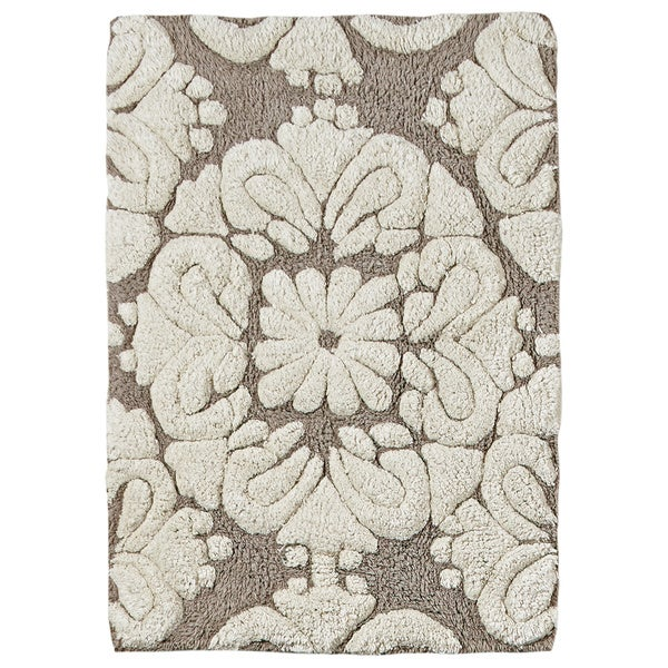 Medallion Micro Bath Mat By Better Trends (2' x 3') - 2' x 3'