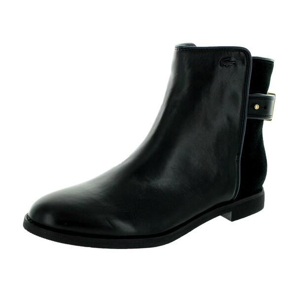 c9760ba9ab4d84 Shop Lacoste Women s Rosemont Chelsea Srw Black Boot - Free Shipping ...