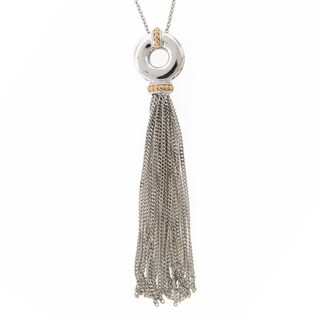 Meredith Leigh Sterling Silver/14k Accent Tassel Pendant