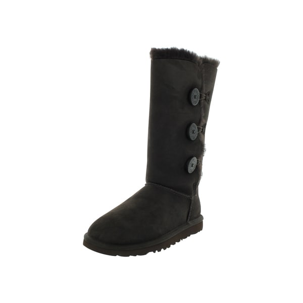 shop ugg boot w bailey button triplet chocolate free shipping rh overstock com