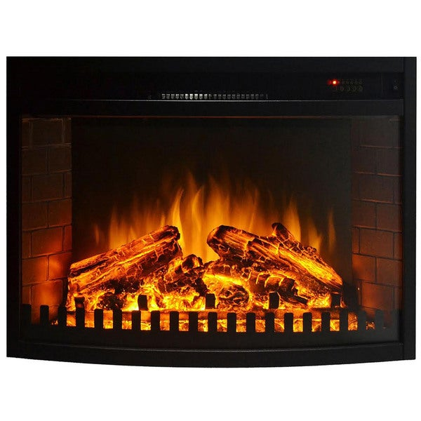 Gibson Living 33 Curved Ventless Electric Space Heater Built In Recessed Firebox Fireplace