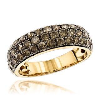 Luxurman 14K Gold Womens Champagne Diamond Ring 2.10ct (Champagne; SI1-SI2)