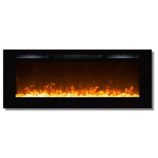 """Gibson Living Sydney 50"""" Crystal Recessed Indoor Wall Mounted Electric Fireplace"""