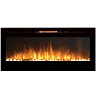 "Gibson Living Sydney 50"" Pebble Recessed Home Indoor Wall Mounted Electric Fireplace"