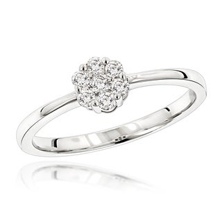Luxurman Diamond Rings 14K Pre-Set Diamond Engagement Ring 0.22ct