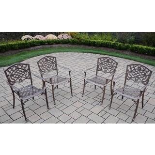 Dakota Cast Aluminum Stackable Chairs (Set of 4)