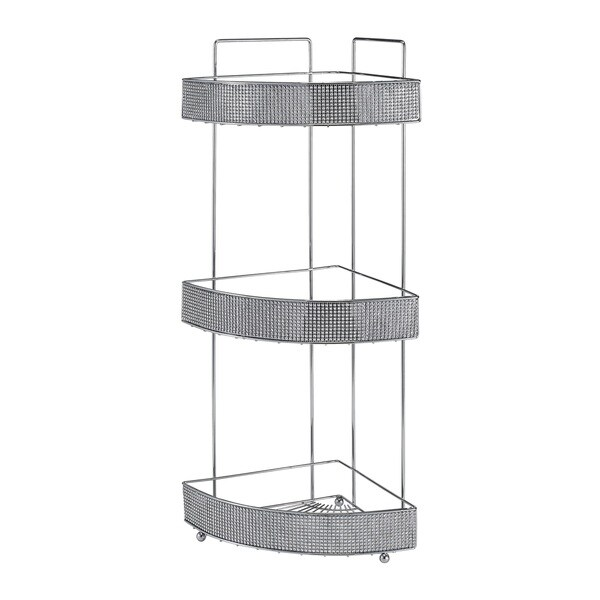 Bath Bliss 3 Tier Corner Rack In Pave Diamond