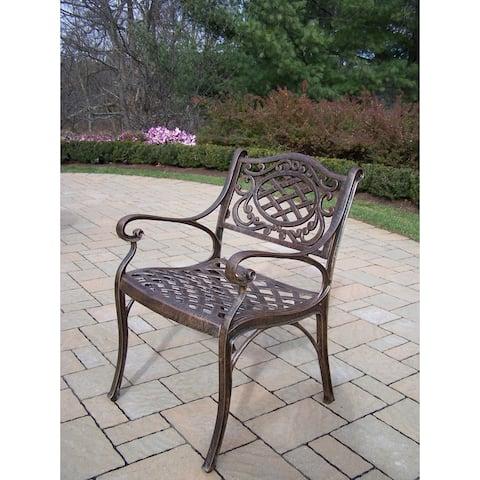 Dakota Antique Bronze Cast Aluminum Arm Chair