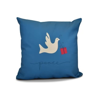 18 x 18-inch, Peace Dove, Animal Holiday Print Outdoor Pillow