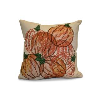 18 x 18-inch, Pumpkin Pile, Geometric Print Outdoor Pillow