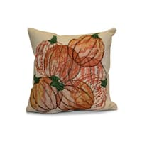 18 x 18-inch, Pumpkin Pile, Geometric Print Outdoor Pillow