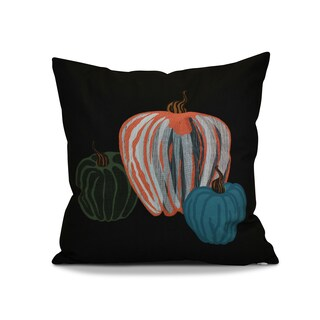 18 x 18-inch, Pumpkin Spice, Geometric Print Outdoor Pillow