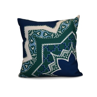 18 x 18-inch, Rising Star, Geometric Print Outdoor Pillow