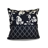 18 x 18-inch, Scroll Dot, Floral Holiday Print Pillow