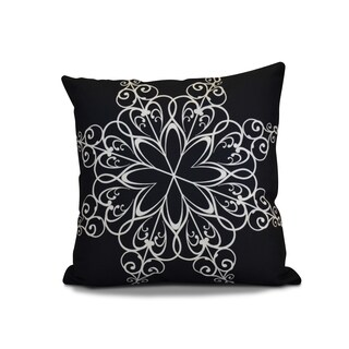 18 x 18-inch, Snowflake, Geometric Holiday Print Outdoor Pillow