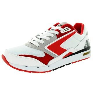 Brooks Men's Fusion White/Highriskred/Grey/Black Running Shoe