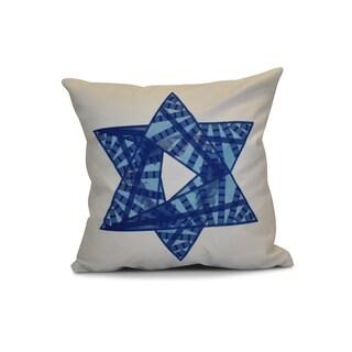 18 x 18-inch, Star Mosaic, Geometric Holiday Print Pillow