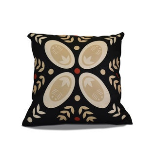 18 x 18-inch, Tradition, Geometric Holiday Print Outdoor Pillow