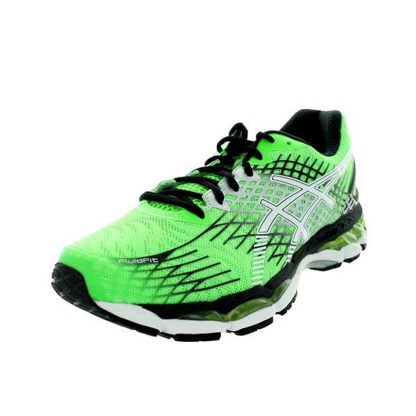 7b0f25ad9eda Shop Asics Men s Gel-Nimbus 17 Flash Green White Black Running Shoe ...