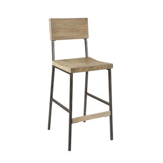 INK+IVY Tacoma Barn Grey/ Black Barstool