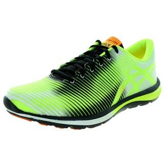 Asics Men's Gel-Super J33 Flash Yellow/Black/Flash Orange Running Shoe