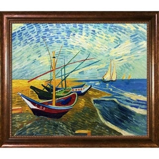 Van Gogh Fishing Boats at Saintes-Maries Hand Painted Oil Reproduction