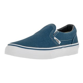Vans Kid's Classic Slip-On Navy/True White Skate Shoe|https://ak1.ostkcdn.com/images/products/12321269/P19154052.jpg?impolicy=medium