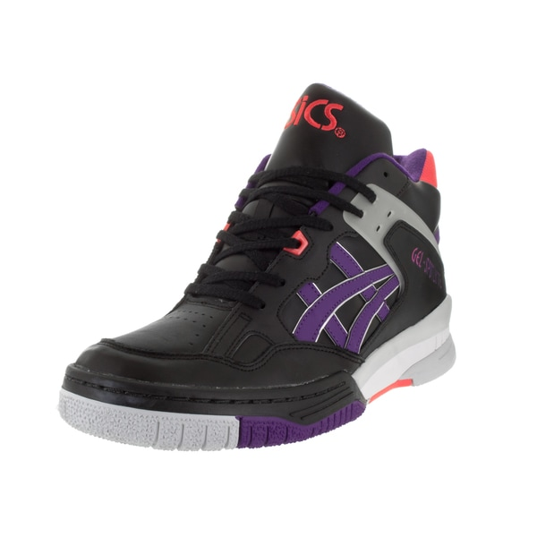 Shop Asics Men s Gel-Spoyte Black Purple Basketball Shoe - Free ... d0eee7ca6a69