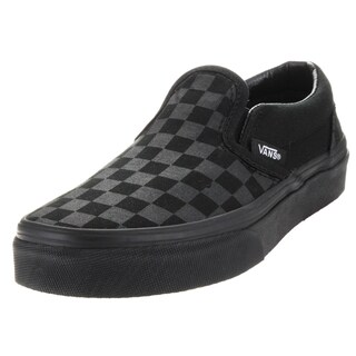 Vans Kid's Classic Slip-On (Checkerboard) Mono/Black Skate Shoe