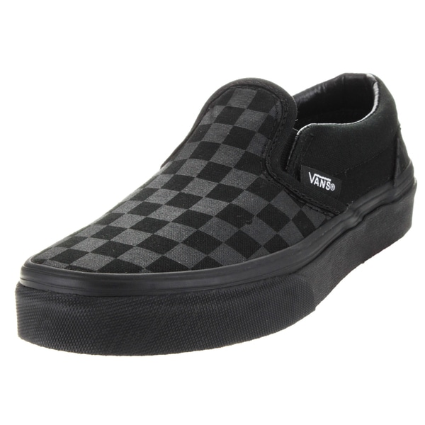 black checkerboard vans