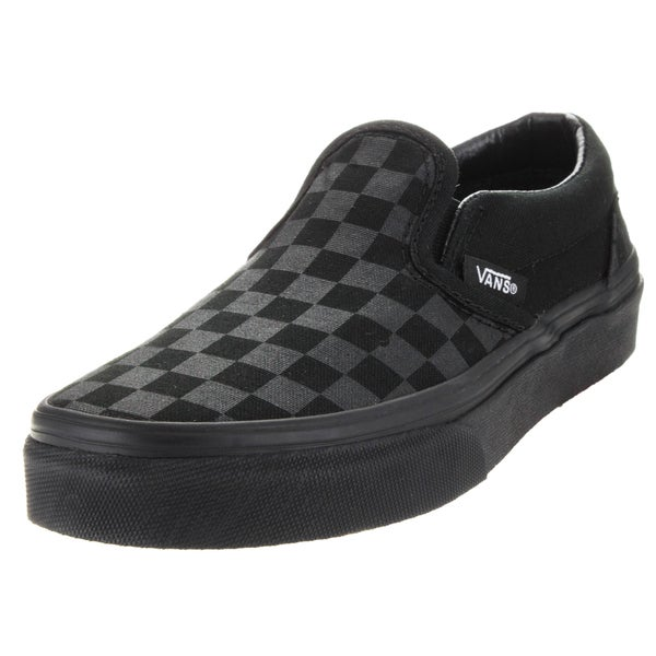 vans classic slip on checkerboard black