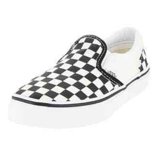 Vans Kid's Classic Slip-On (Checkerboard) White/Black Skate Shoe|https://ak1.ostkcdn.com/images/products/12321283/P19154064.jpg?impolicy=medium