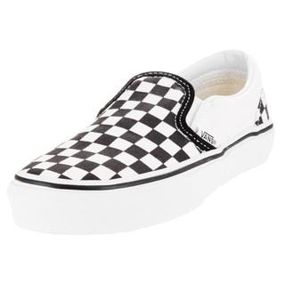 Vans Kid's Classic Slip-On (Checkerboard) Black/True White Skate Shoe (Option: 1)