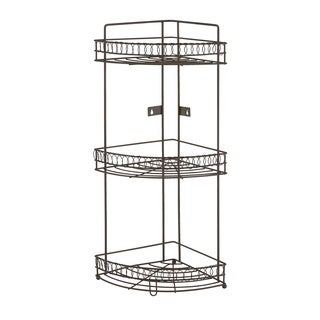 Bath Bliss 3 Tier Corner Rack In Curls Design