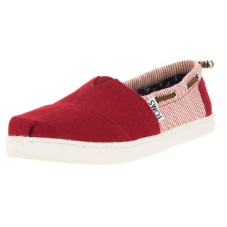 Toms Kid's Bimini Red/Stripes Casual Shoe